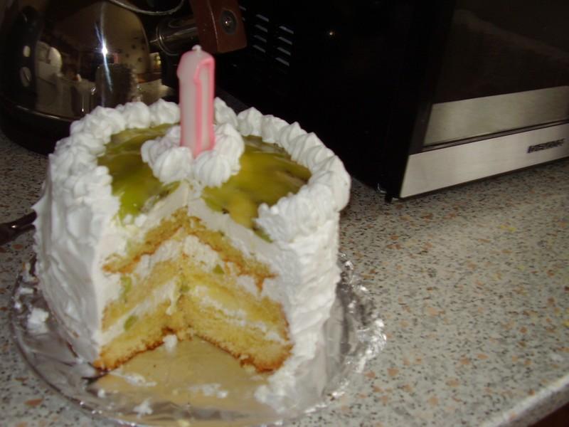Narozeninový smetanový dort