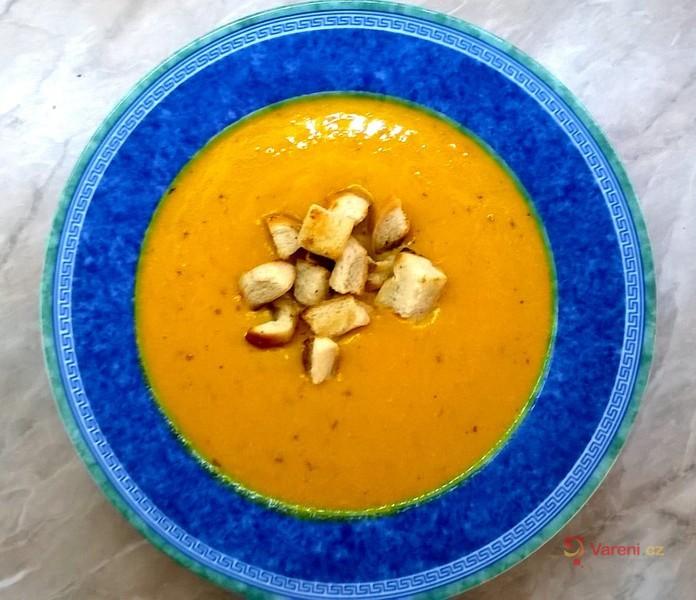 Dýňová krémová polévka s kari