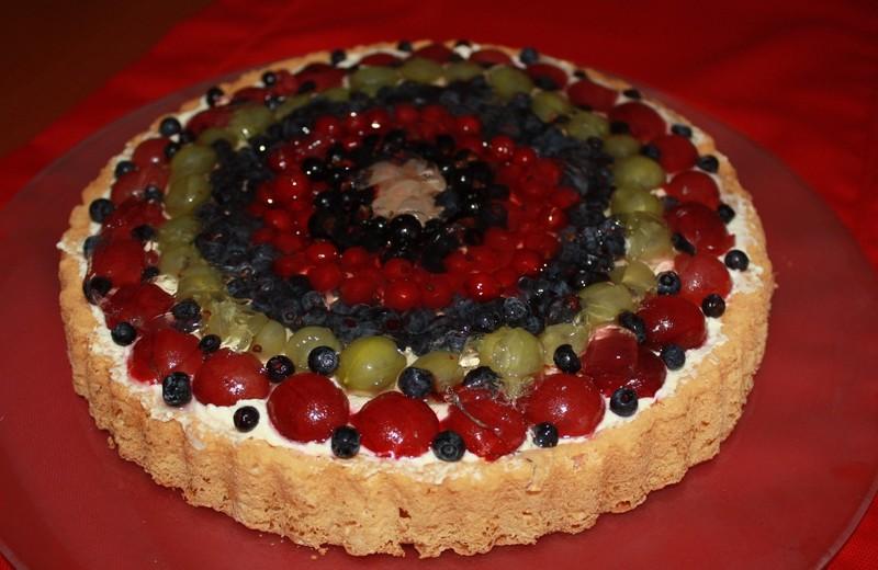 Lehký ovocný dort