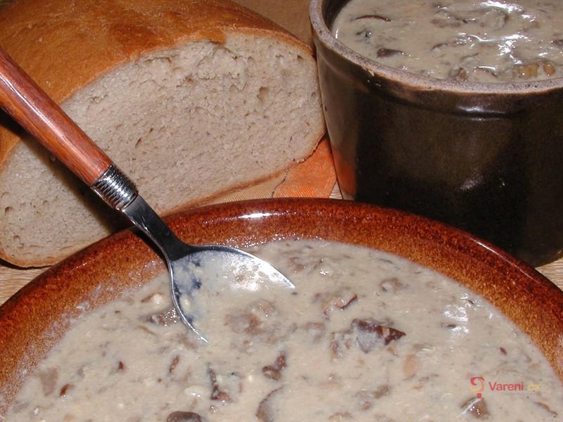 Levná houbová polévka