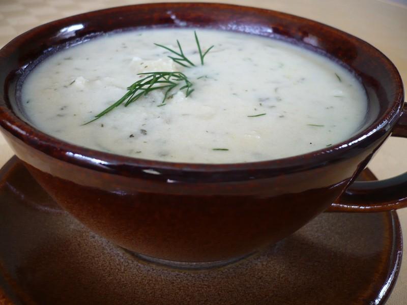 Brynzová polévka s koprem