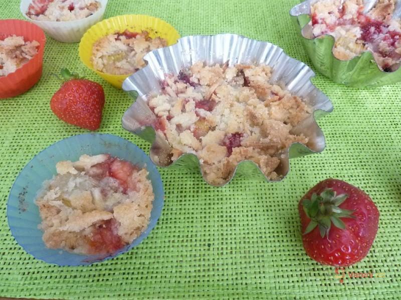 Rebarborovo-jahodové košíčky