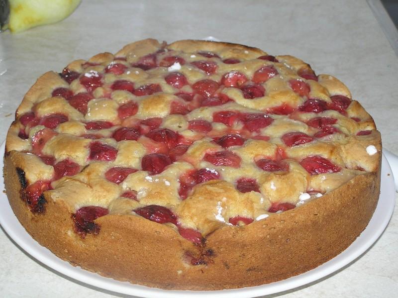 Třešňový koláč s citronem