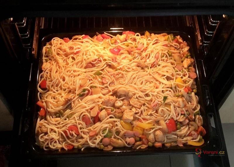 Zapékané špagety ala Dočík