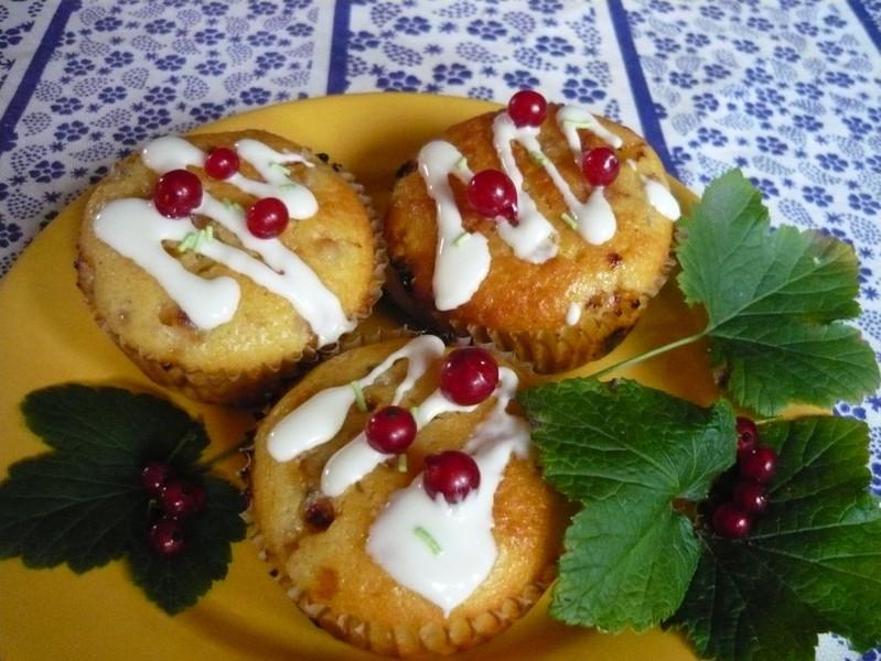 Rybízové muffinky