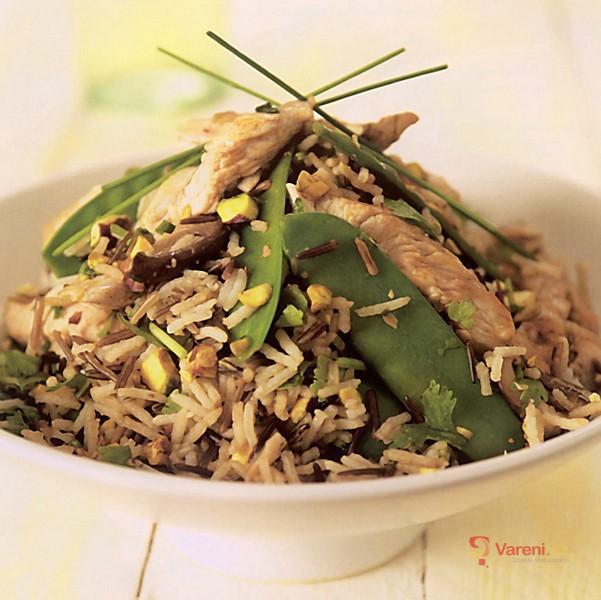 Rýžový salát s krůtím masem