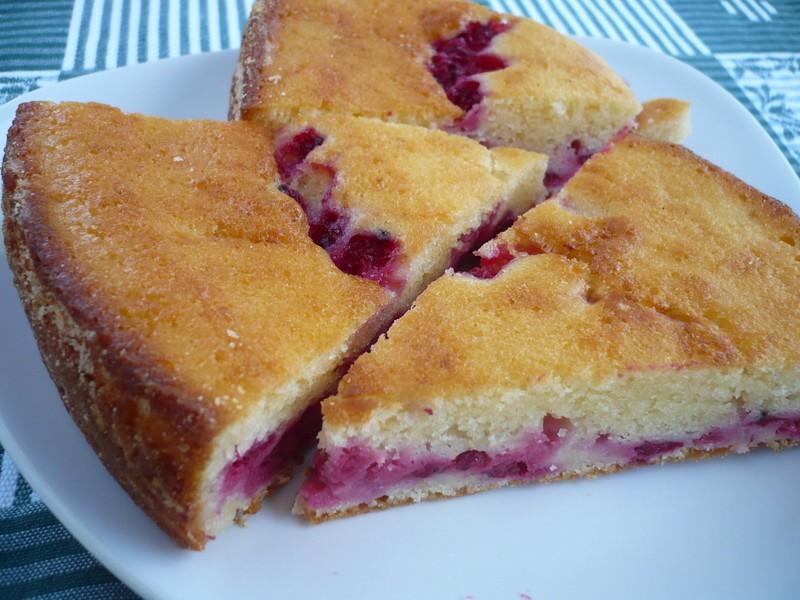Rybízový koláč s tvarohem