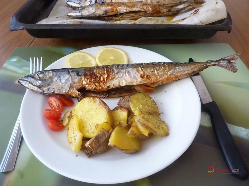 Makrela pečená s rozmarýnem