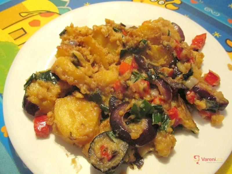 Veganské opečené brambory