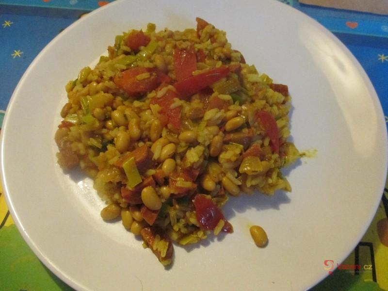 Sója s rýží na kari