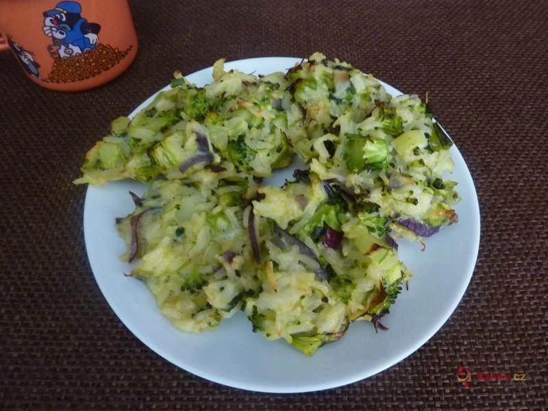 Rýžové placičky s brokolicí pro děti