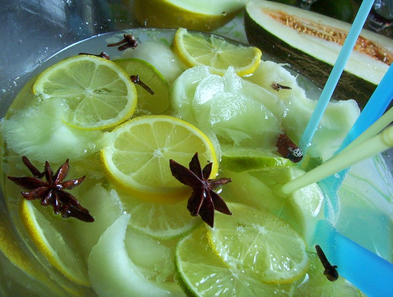 Osvěžující melounová bowle