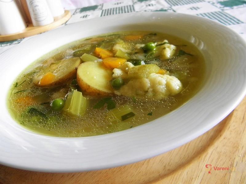 Letní polévka se zeleninou