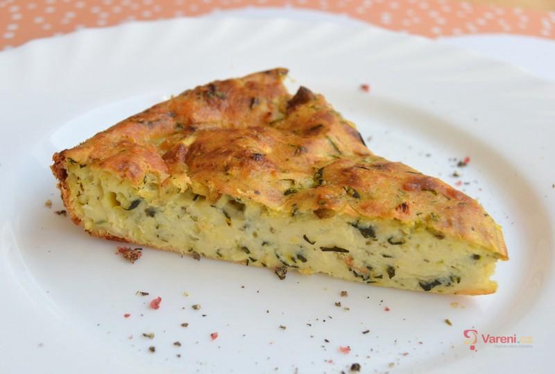 Cuketový koláč se sýrem