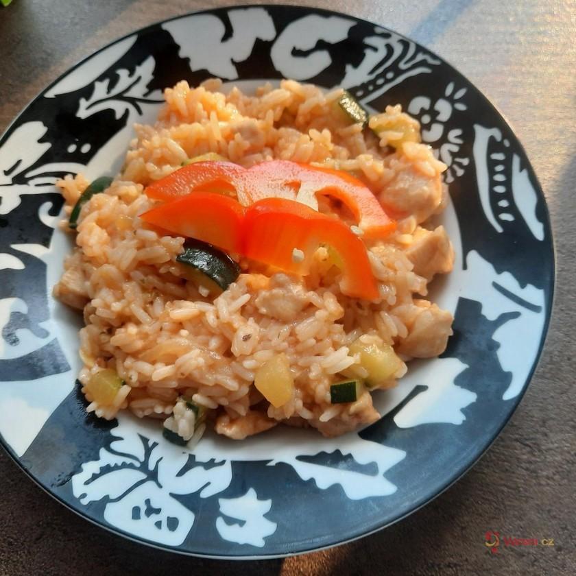 Kuřecí rizoto s cuketou