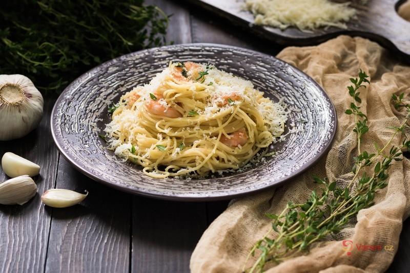 Bezlepkové těstoviny s mořskými plody