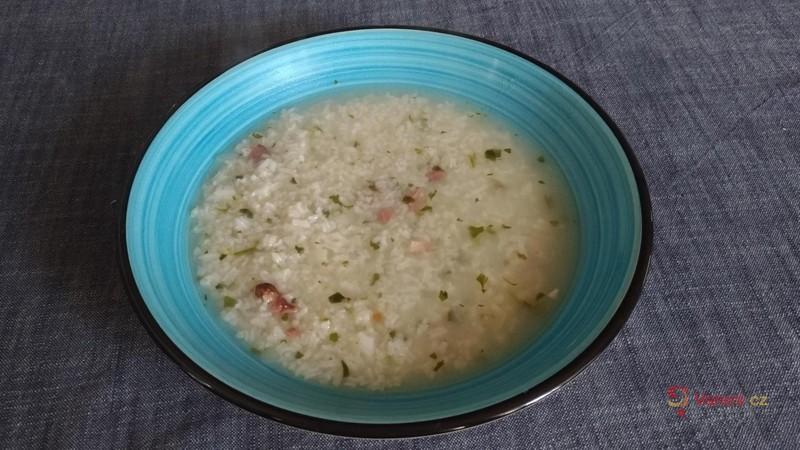 Uzená polévka s rýží