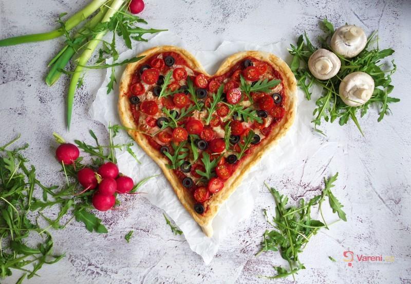 Domácí pizza k Valentýnu