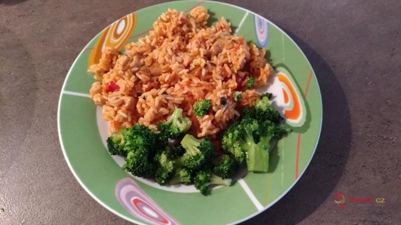 Krůtí rizoto s brokolicí
