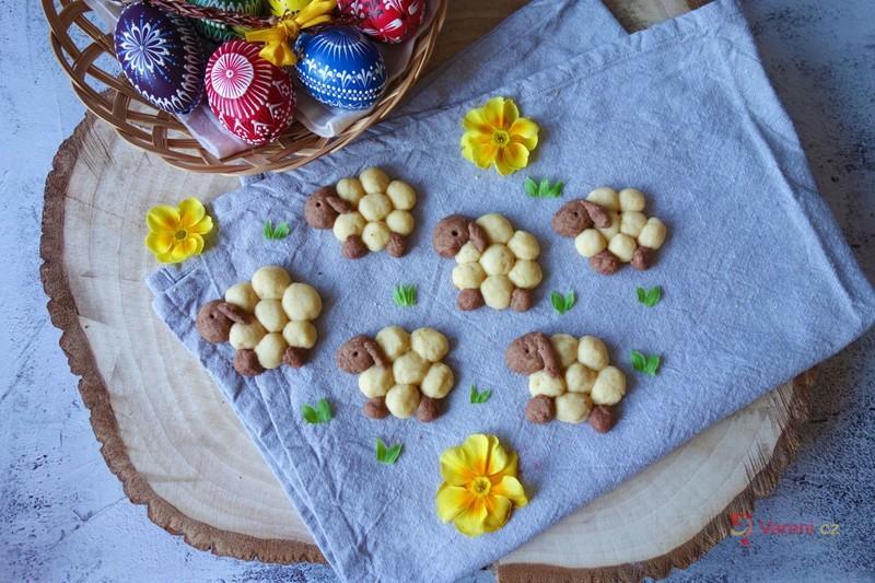 Velikonoční sušenky ve tvaru oveček