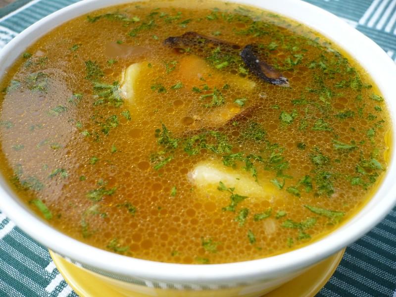 Polévka z kuřecího vývaru se zeleninou