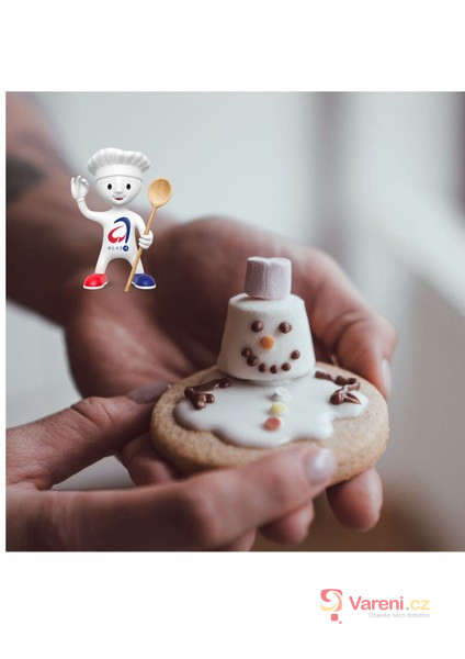 Tající sušenkoví sněhuláci