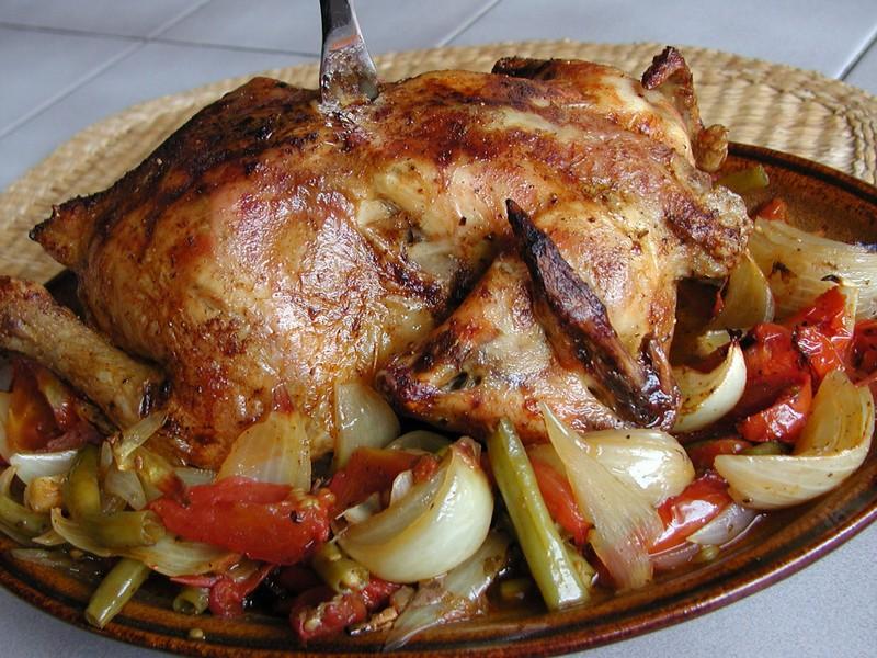 Kuře na zelenině a řeckém koření