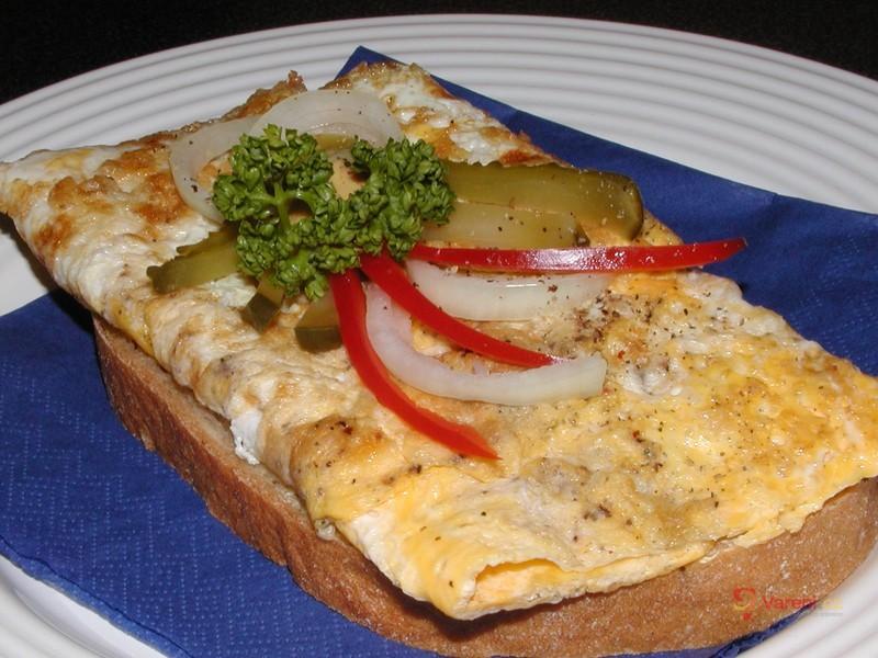 Chléb s vaječnou omeletou
