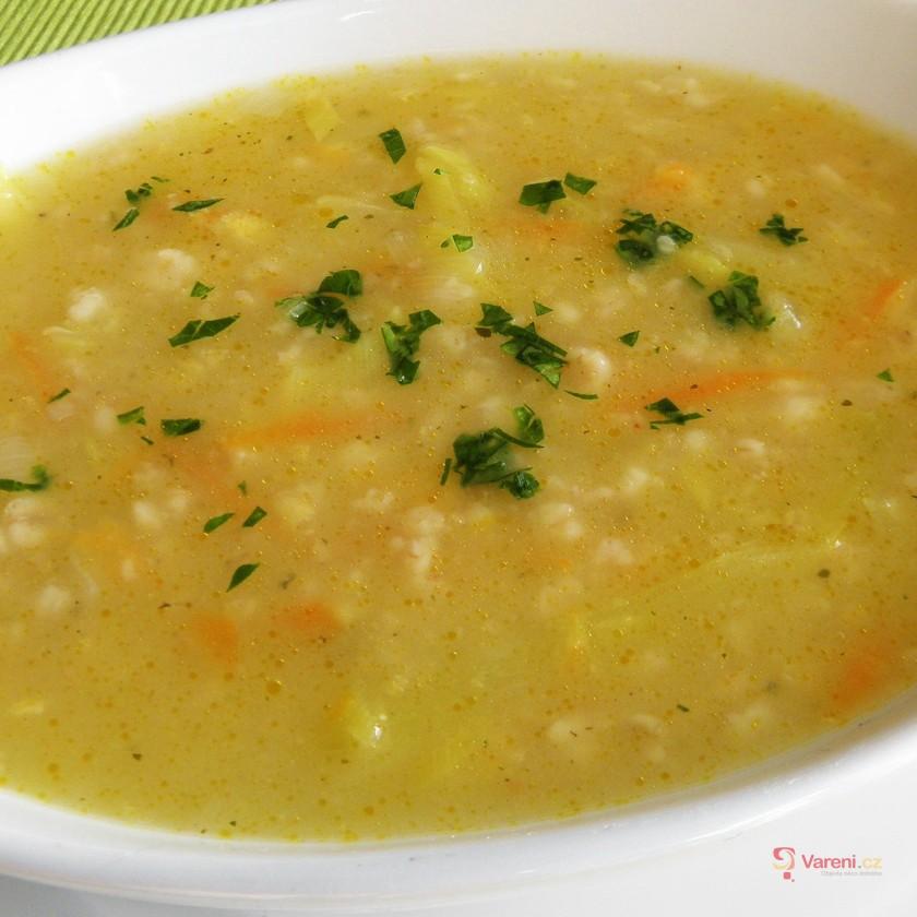 Ovesná pórková polévka