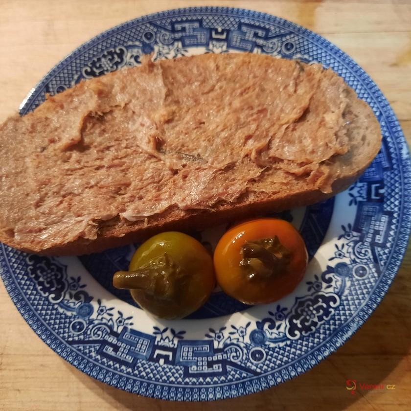 Masová pomazánka z pečeného vepřového masa