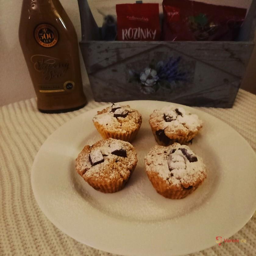 Domácí muffiny s kousky čokolády