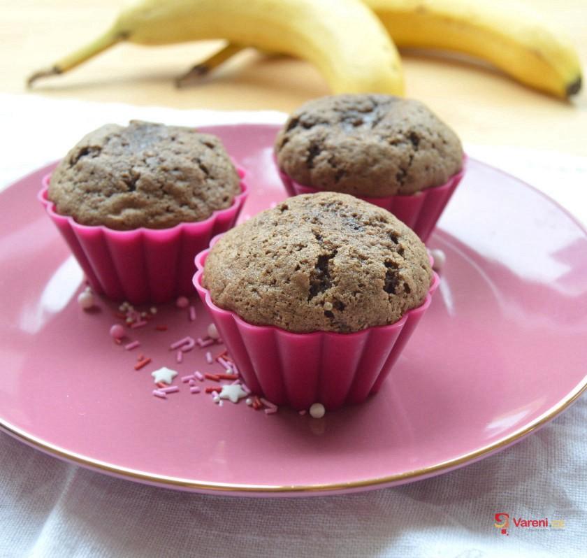Kakaové muffiny s banánem