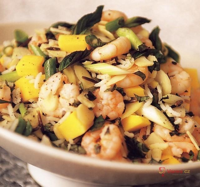 Rýžový salát s krevetami