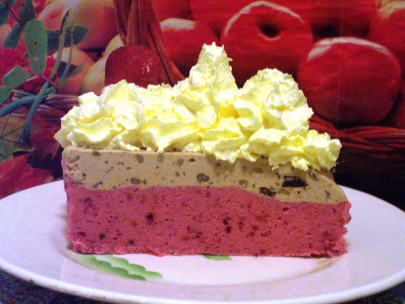 Dvoubarevný zmrzlinový dort