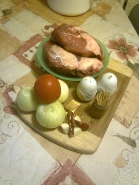 Moravský vrabec s chlupatými knedlíky a zelím
