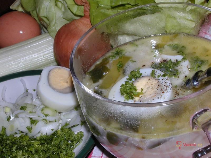 Jarní salátová polévka