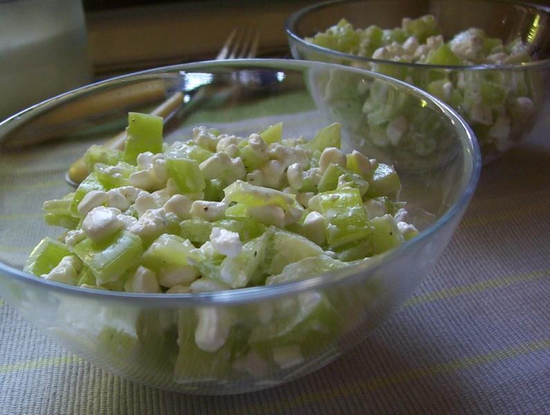 Paprikový salát s cottage