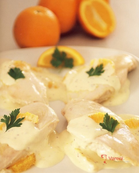 Kuřecí řízky s pomerančovou omáčkou