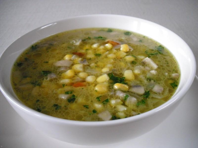 Pikantní polévka s kukuřicí