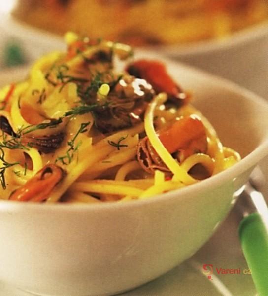 Špagety se slávkami