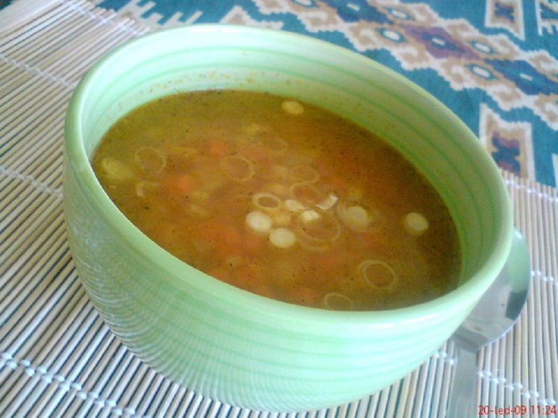Ostrá zeleninová polévka