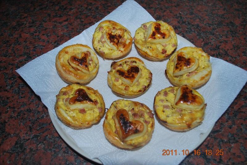 Muffinky z listového těsta