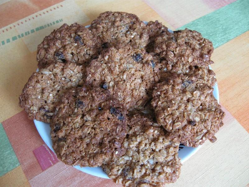 Křupavé vločkové sušenky