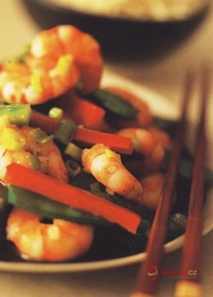 Krevety s paprikami