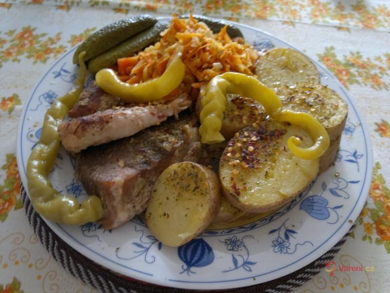 Vepřová pečeně na česneku 1