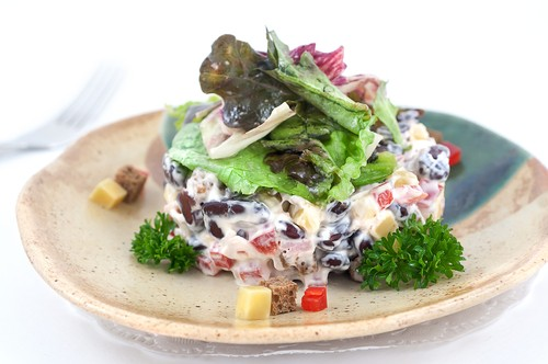 Sladkokyselý salát z masa