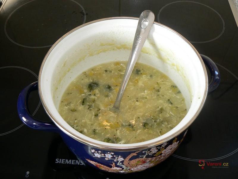 Pórková polévka s brokolicí
