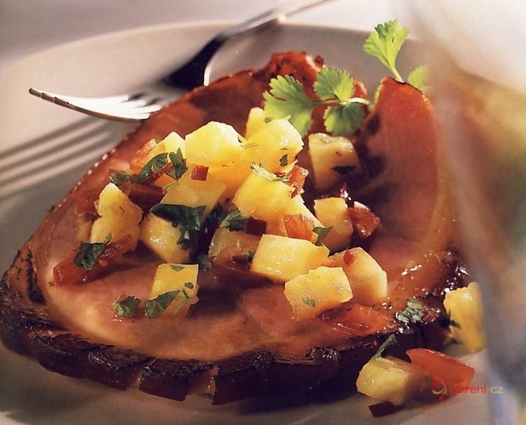 Medová šunka s ananasovou omáčkou