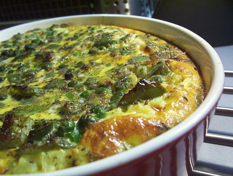 Zeleninový nákyp s bramborovou kaší
