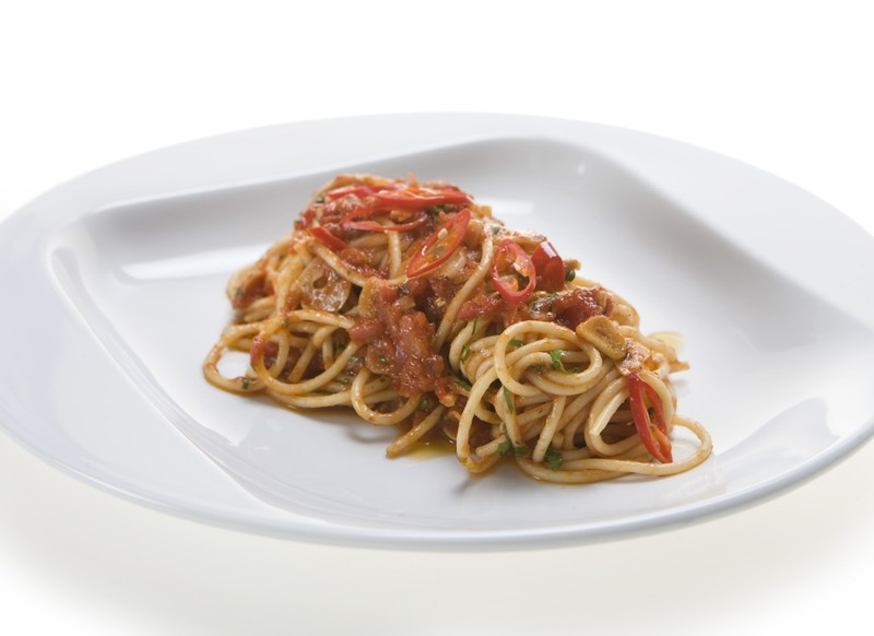 Špagety all Arrabbiata